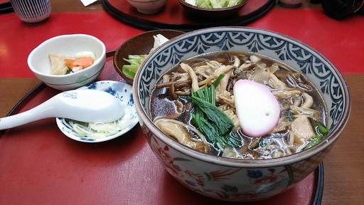 茸と鶏そば(四ツ六庵)
