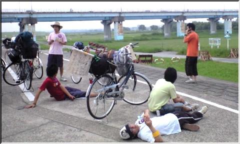 行くぞ!洞爺湖ママチャリサバイバル!流山橋(埼玉県千葉県境界)付近