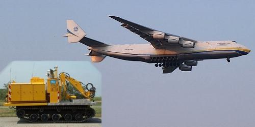 世界最大の輸送機アントノフ225型機
