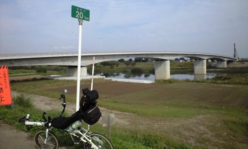 A.鬼怒川右岸20km地点