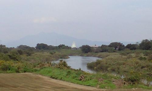 C.鬼怒川右岸20.5kmから見える豊田城