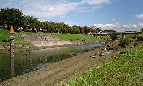 利根運河の水位(増水時)