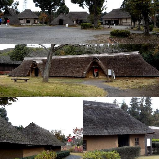 古代家屋復元・鹿の子史跡