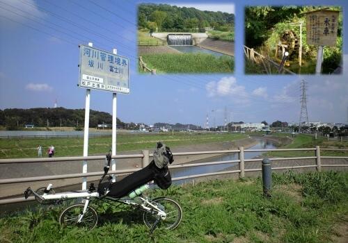 坂川と富士川の合流点