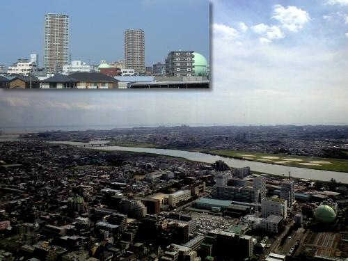 市川アイリンクタワーから江戸川河口の眺め