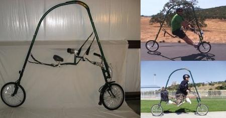 弓状フレームのペダルレス自転車