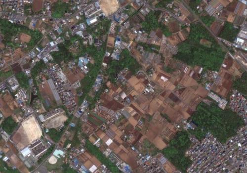 平成20年の柏市逆井の航空写真