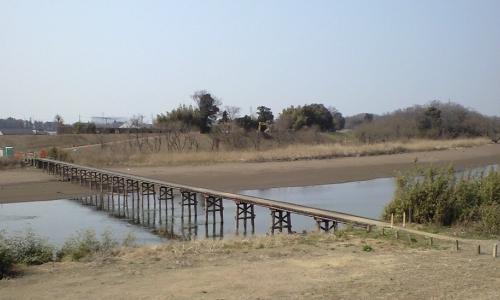 渇水時の沈下橋(小目沼橋)