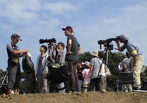 秋のタカの渡り観察会:2012年9月30日