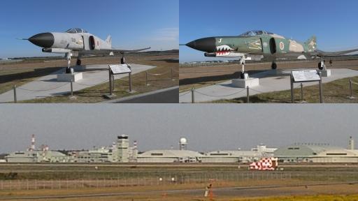 茨城空港のF-4と百里基地