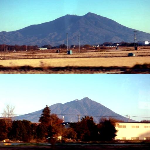車窓から見る筑波山の変化.jpg