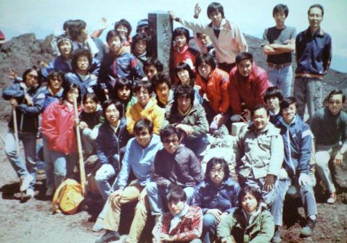 日本最高地点にて富士山測候所の方と共に
