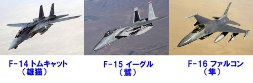 F-14 F-15 F-16 戦闘機