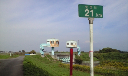 F.鬼怒川右岸21km地点(篠山水門)