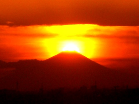 ダイヤモンド富士2007年12月24日