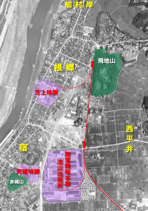 1961(昭和36)年の流山市街地