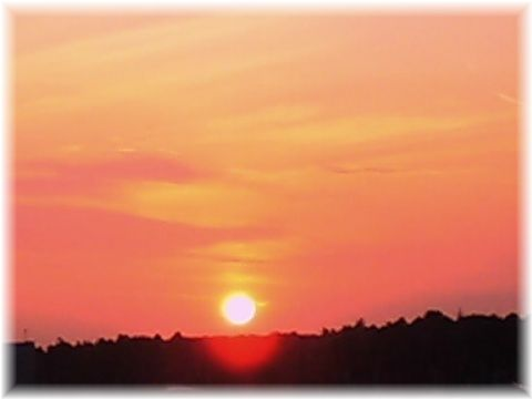 おおたかの森の夕日