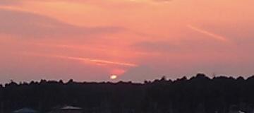 おおたかの森の夕日と富士山05