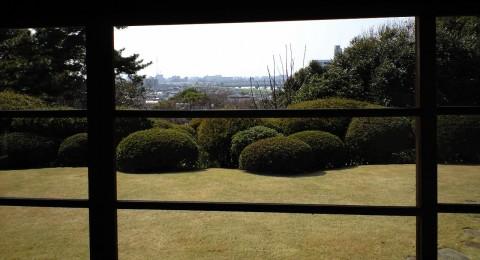 戸定邸から富士を眺める位置