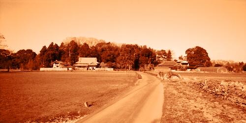寸断された旧道