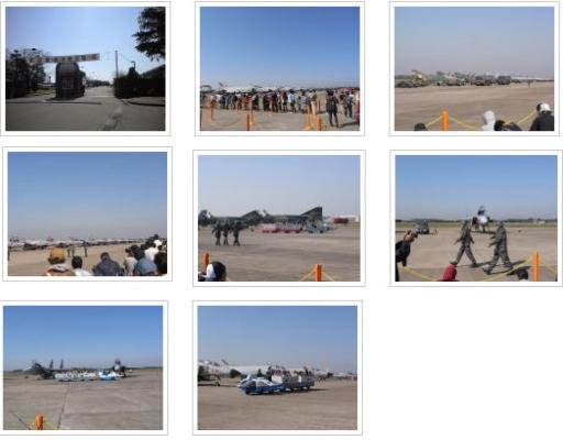 百里基地 航空祭会場の様子