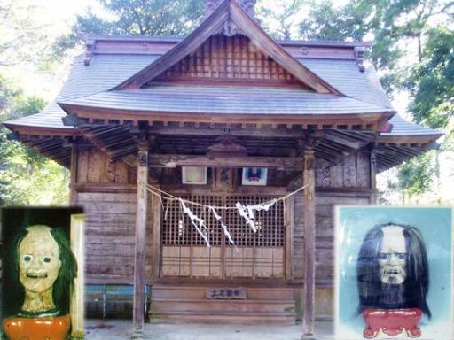 鹿島神社のアテルイ首像(城里町).jpg