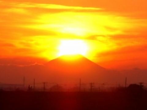 ダイヤモンド富士2007年12月23日