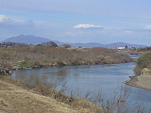 豊水橋と筑波山