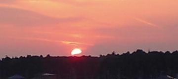 おおたかの森の夕日と富士山03
