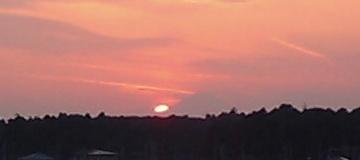 おおたかの森の夕日と富士山04