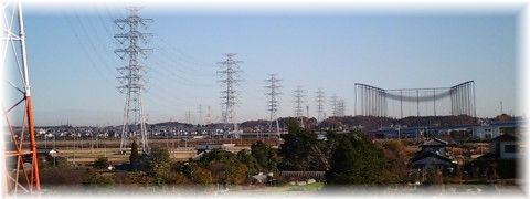 利根運河の送電線